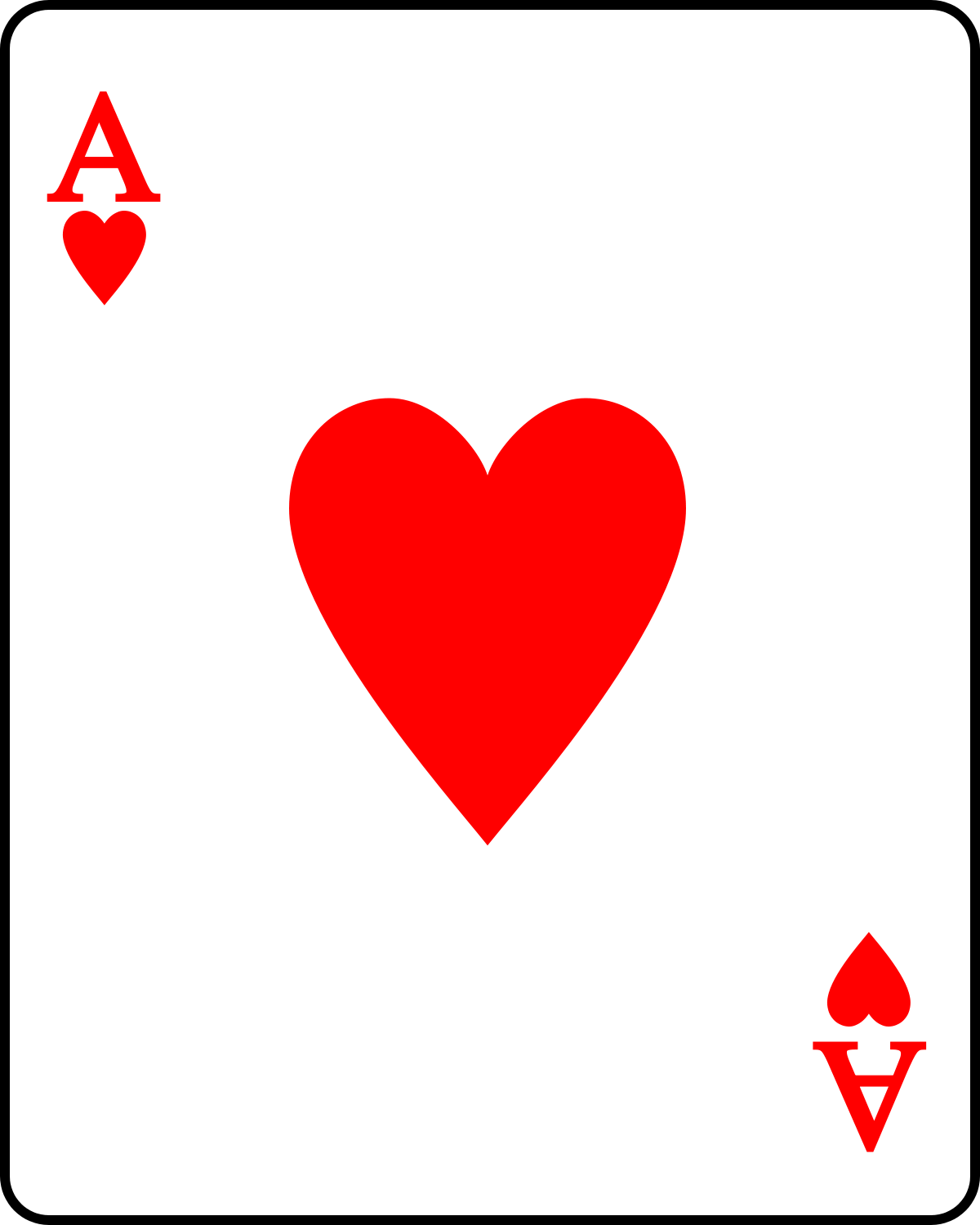 1200x1500 Ace Of Hearts Clipart, Free Ace Of Hearts Clipart
