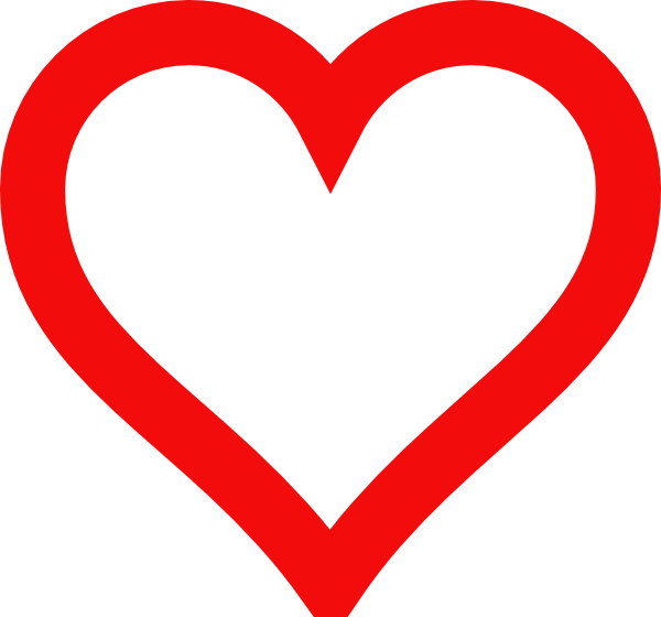 600x560 Heart Shape Outline Clipart
