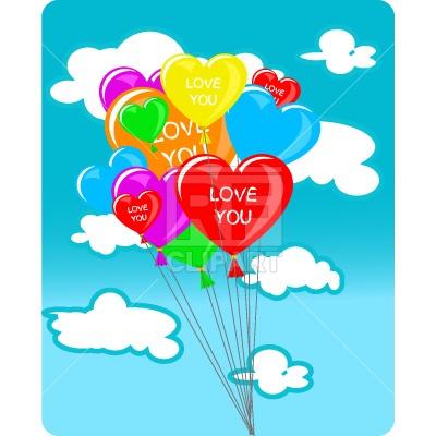400x400 Heart Shape Balloons Royalty Free Vector Clip Art Image