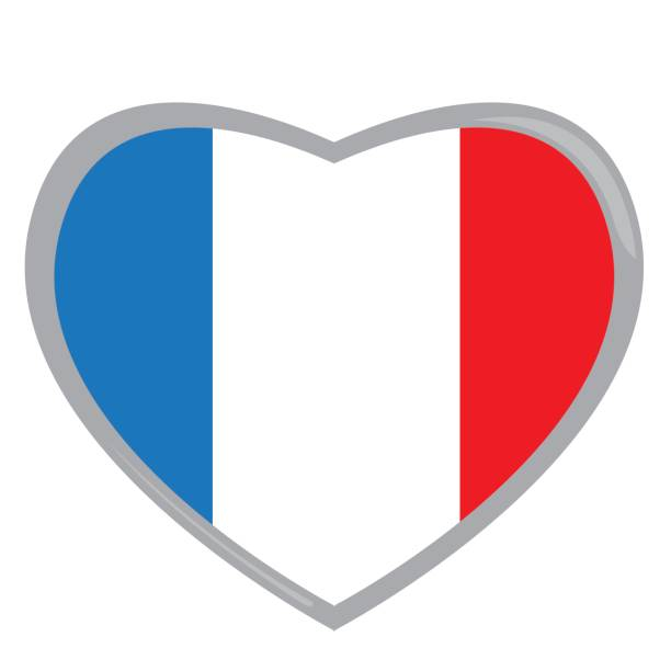 612x612 Clipart French Flag Heart Shaped