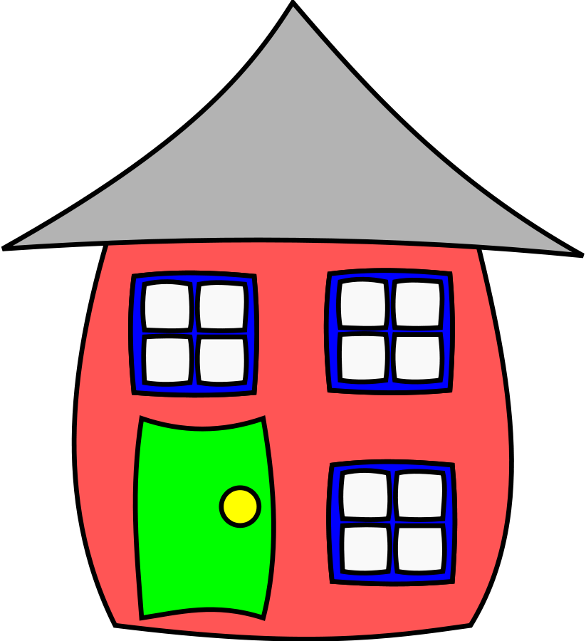 823x900 Clipart Of A House