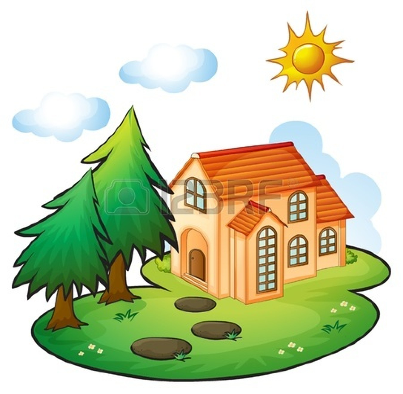 1350x1317 Beautiful House Clipart