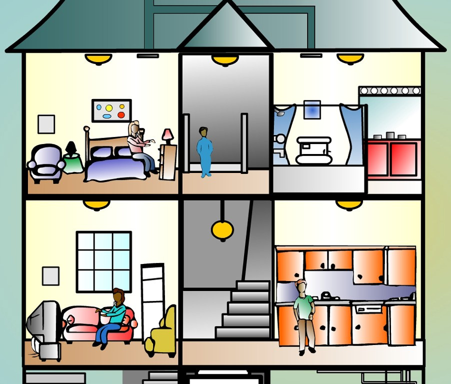 902x768 Free Inside House Clipart Image