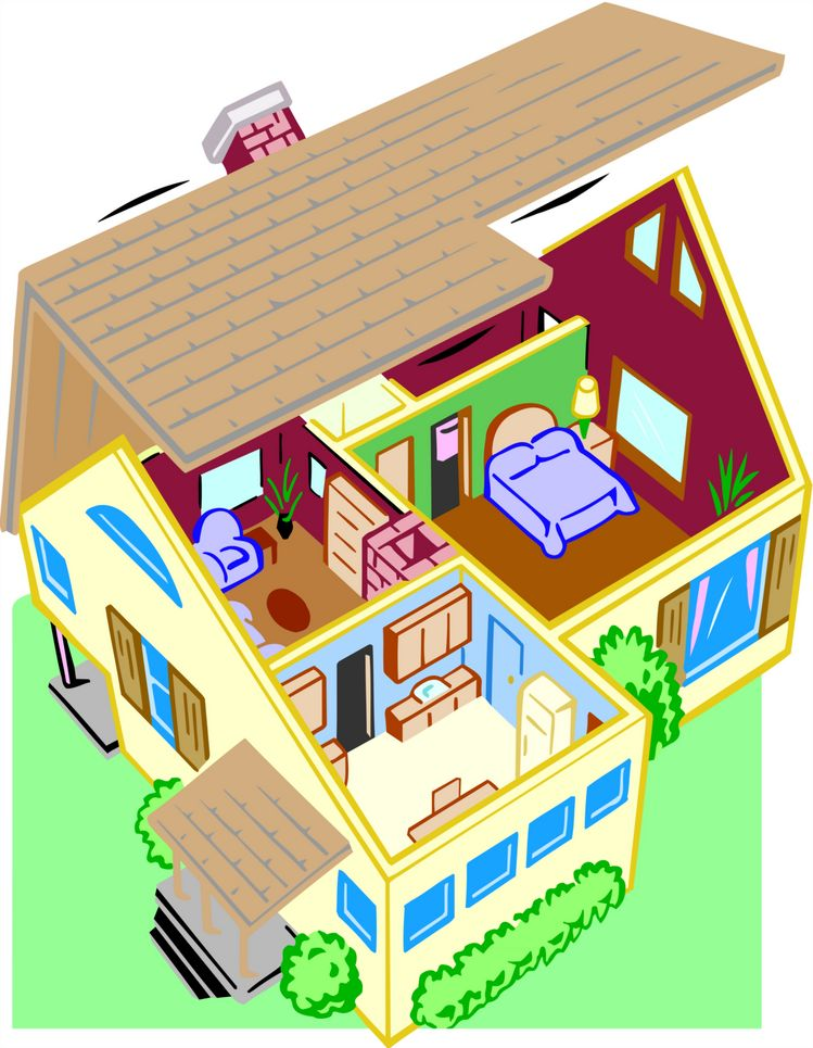 749x965 Free Inside House Clipart Image