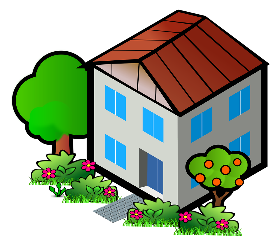 958x840 House Free Stock Photo Illustration Of A House