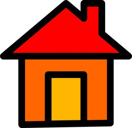 425x413 Image Of A House Clipart