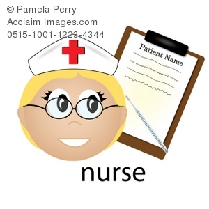 300x300 Art Illustration Of A Nurse Occupation Icon