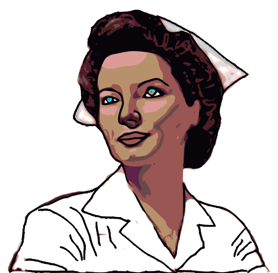 958x941 Public Domain Clip Art Image Illustration Of A Nurse Id