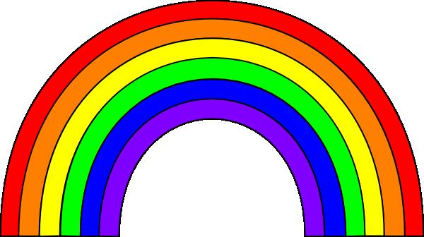 600x336 6 Color Rainbow Clip Art