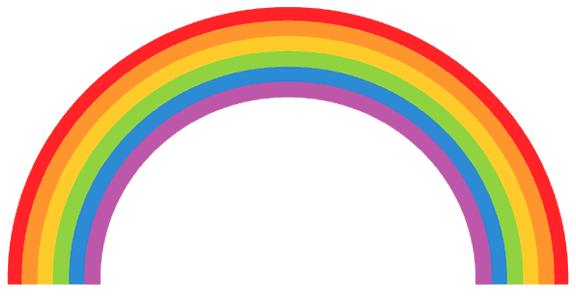 576x296 Rainbow Clipart Half