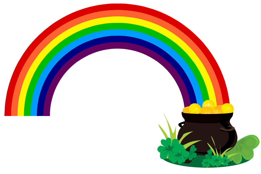 1058x708 Treasure Clipart Rainbow