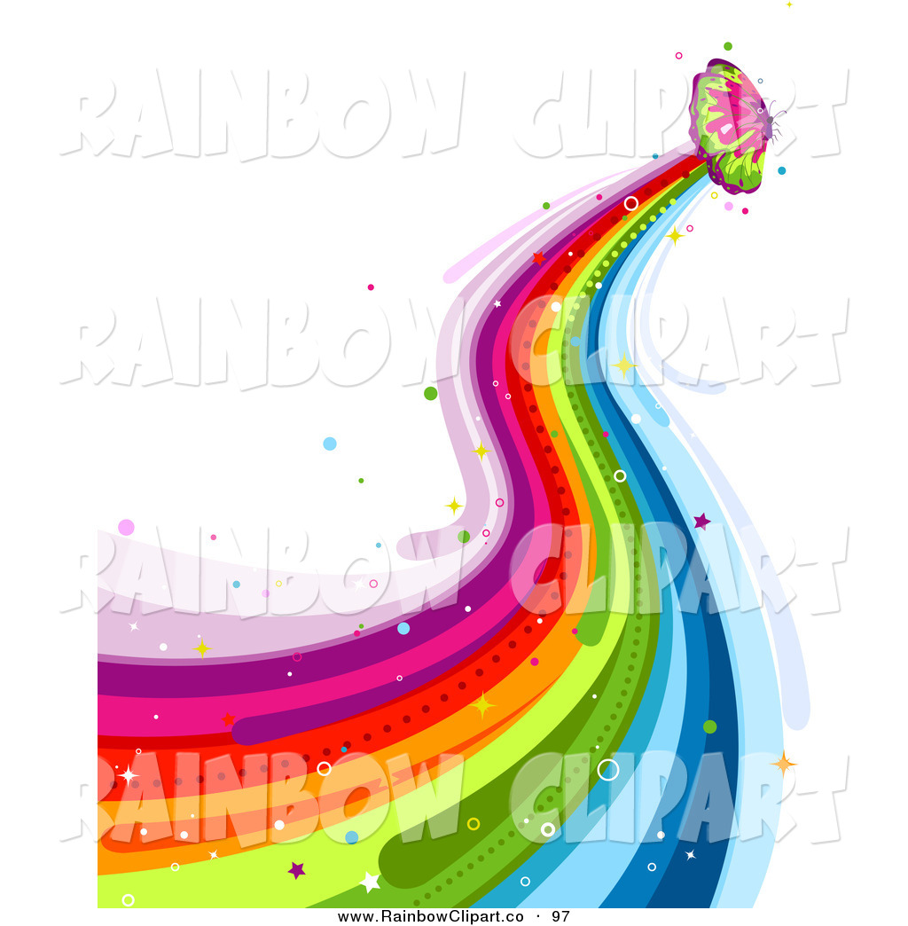 1024x1044 Vector Clip Art Of A Butterfly Rainbow Trail On White By Bnp