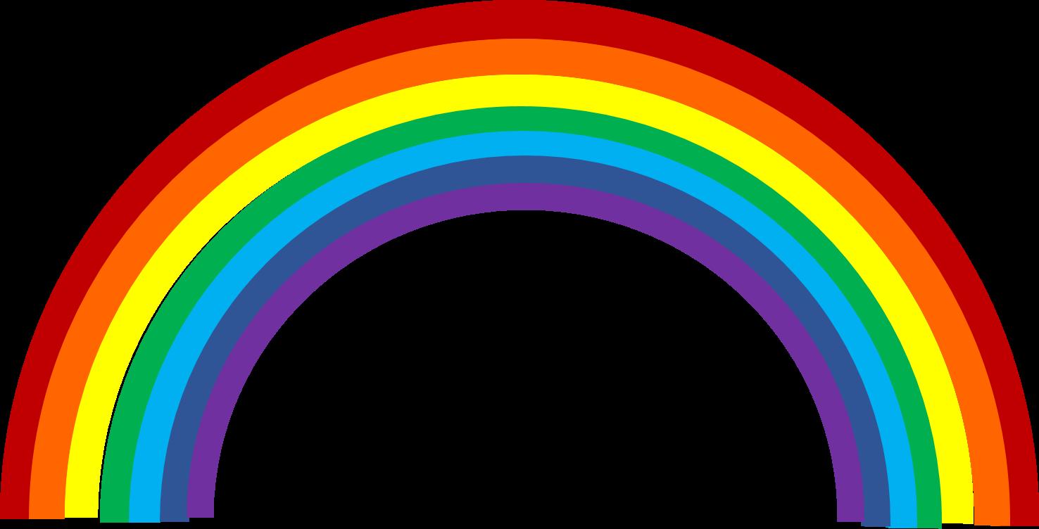 1476x752 Clipart Of A Rainbow