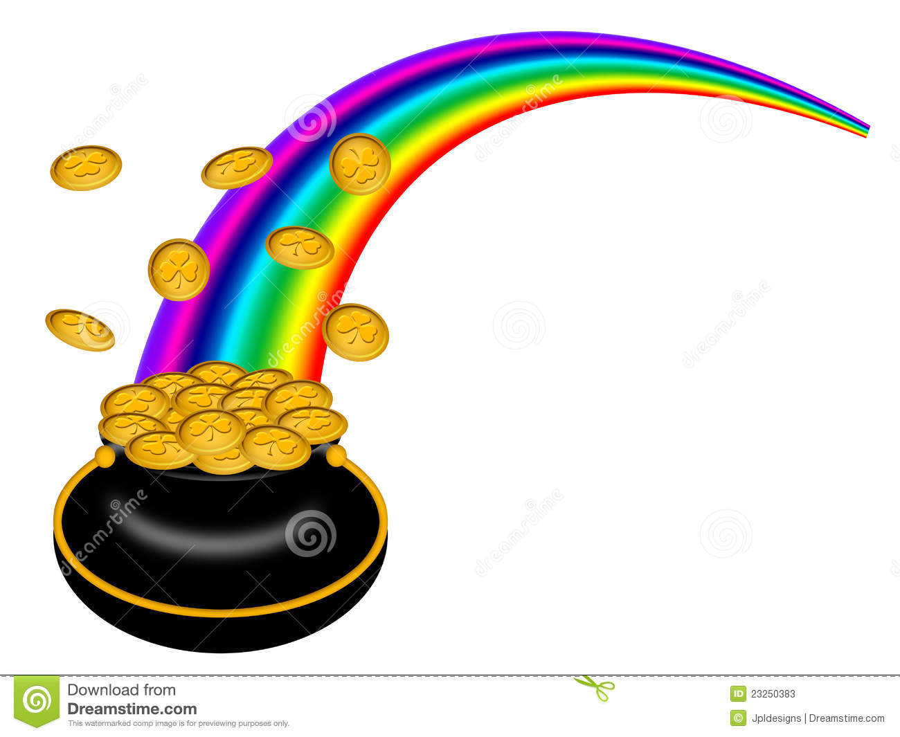 1300x1065 Rainbow With Pot Of Gold Clipart