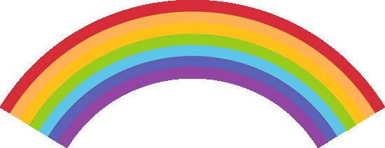 550x212 Colorful Rainbow Clip Art