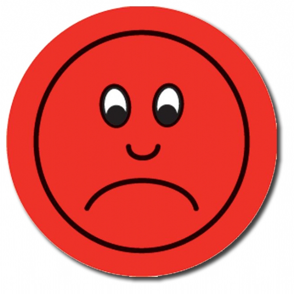 600x600 Red Sad Face Clipart 2