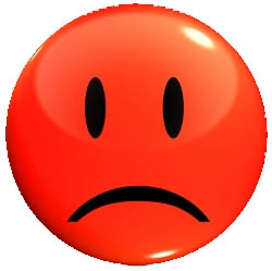 250x249 Red Sad Face Clipart 3