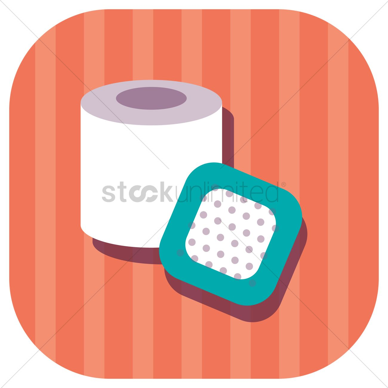 1300x1300 Bandage Roll And Band Aid Vector Image