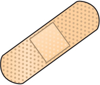 206x175 Bandaid Bandage Black And White Clipart Kid