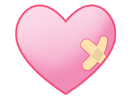 435x313 Heart With Bandaid Clipart