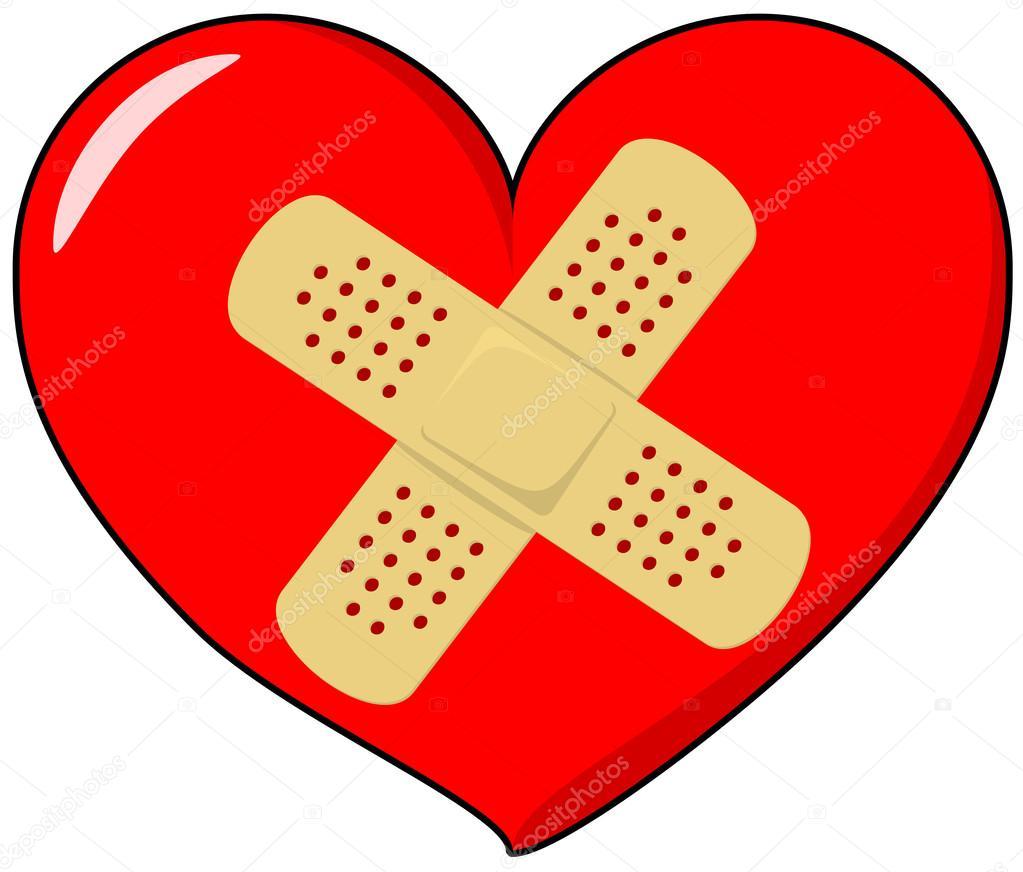 1023x872 Heart With Band Aid Stock Vector Pixelado