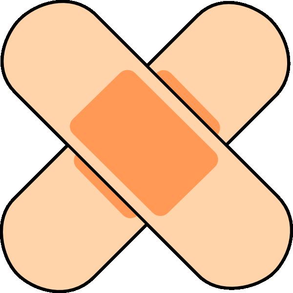 600x601 Pink Band Aids Clip Art