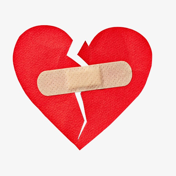 600x600 Broken Heart, Red, Band Aid, Heart Shaped Png Image For Free Download