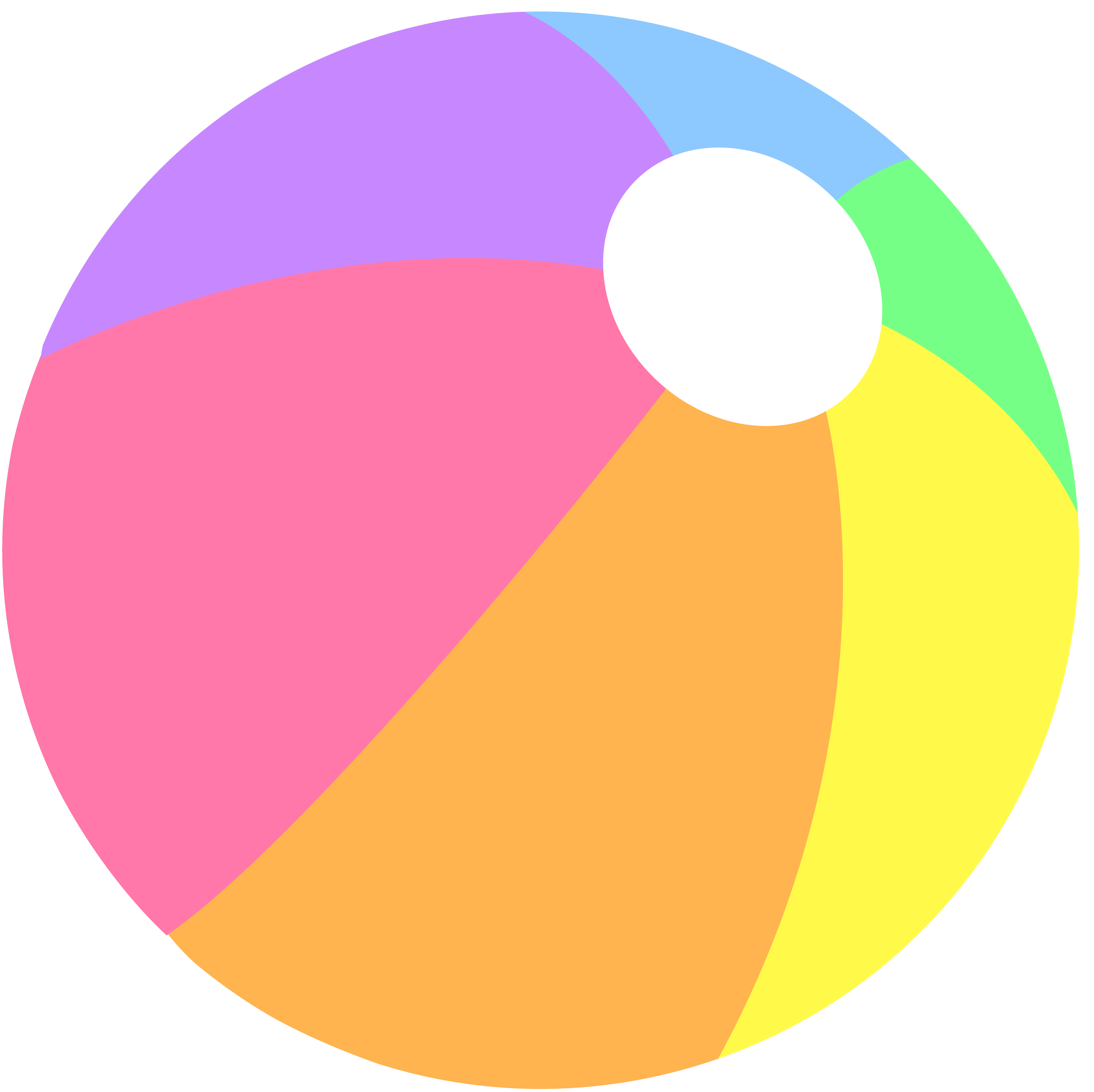 3809x3800 Beach Ball In Pastel Colors