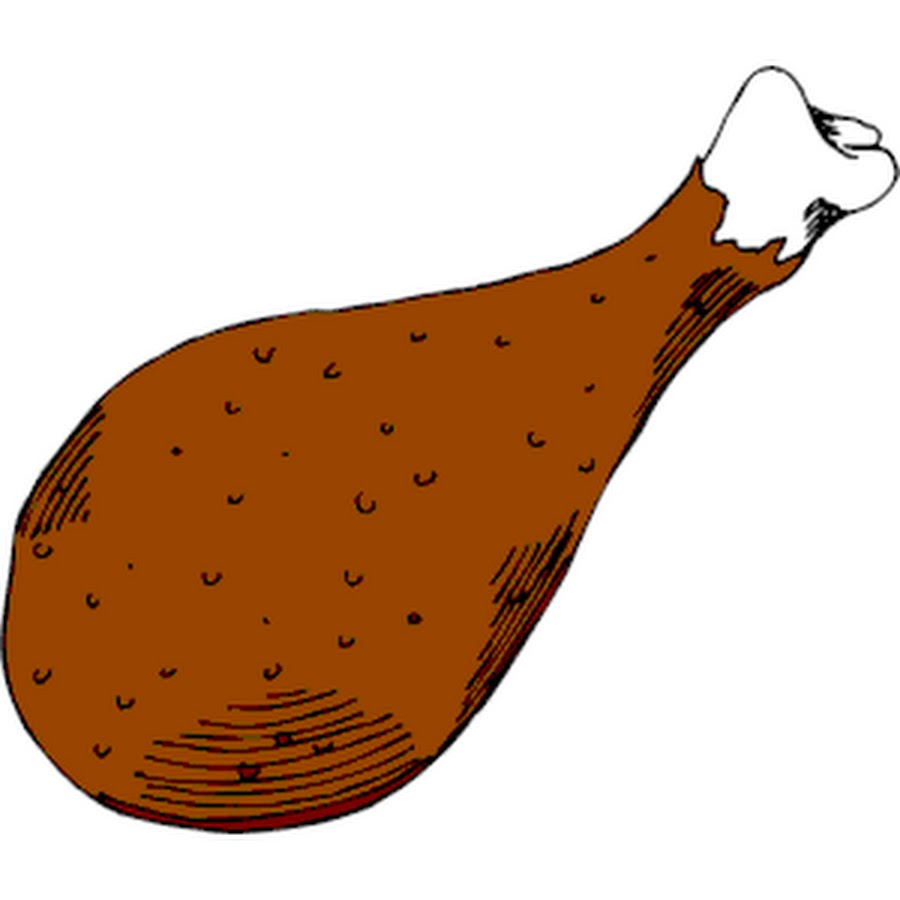 900x900 Leg Fried Chicken Clipart