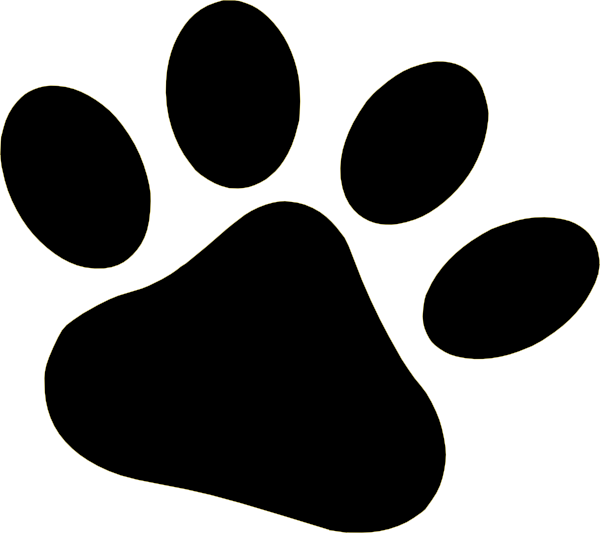 600x533 Clipart Cat Paws
