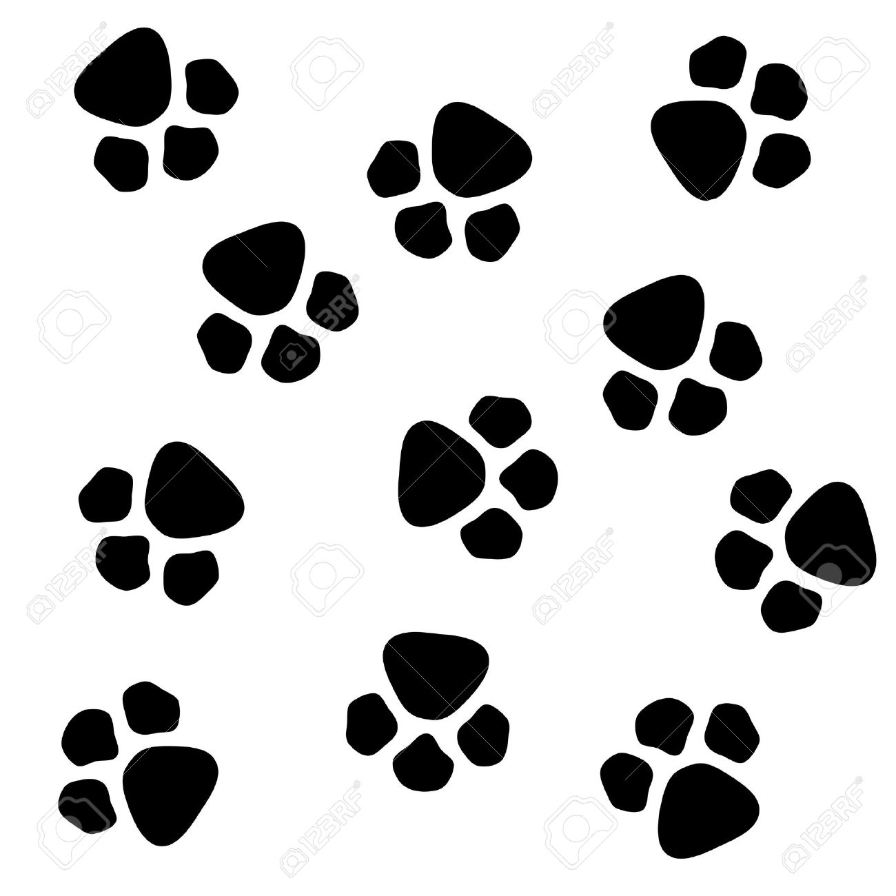 1300x1300 Dog Paw Prints Pattern Stock Photo, Picture And Royalty Free Image