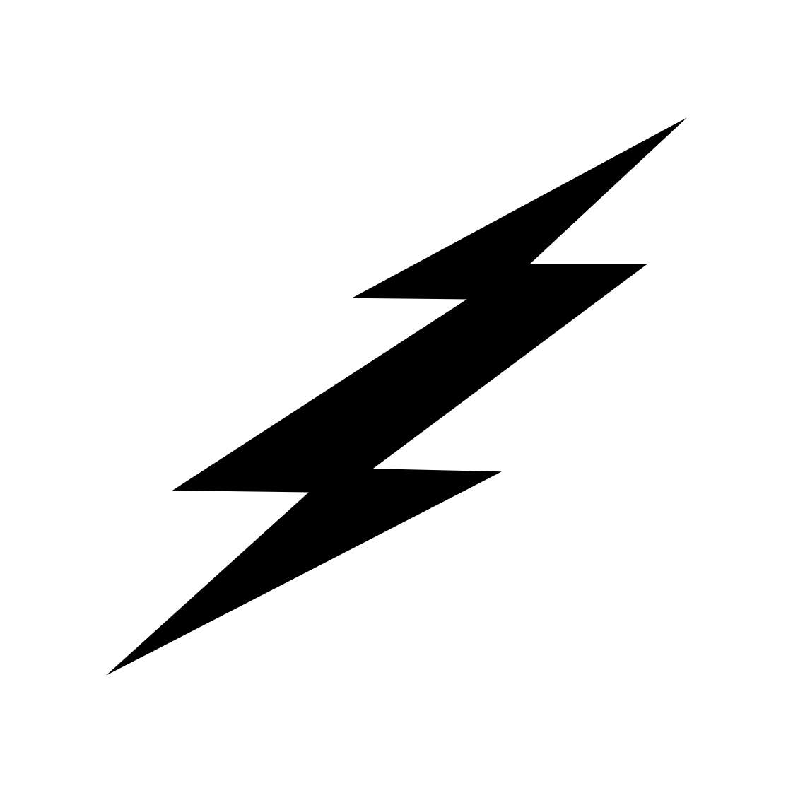 1122x1122 Black Lightning Bolt Clipart