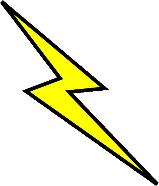 510x595 Lightning Bolt Clip Art
