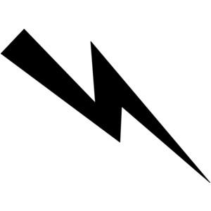 300x300 Lightning Bolt Black And White Clipart Kid