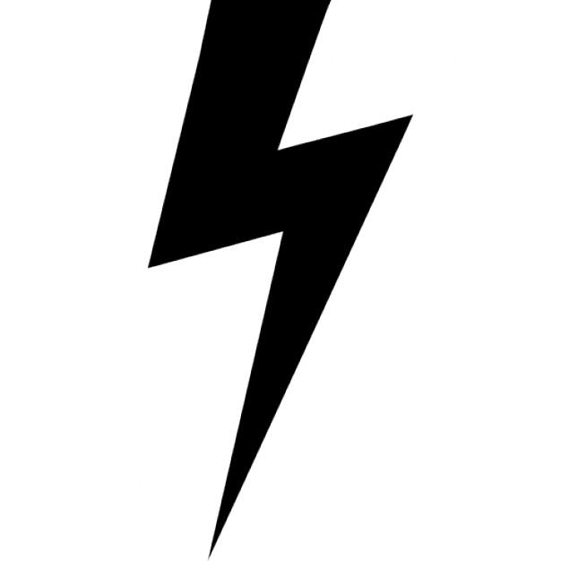 626x626 Lightning Bolt Black Shape Icons Free Download