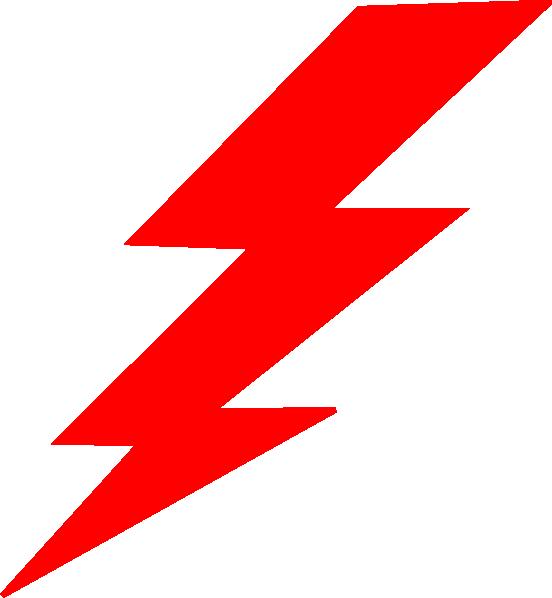 552x598 Red Lightning Clipart