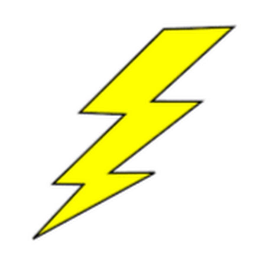900x900 Yellow Lightning Bolt Clipart