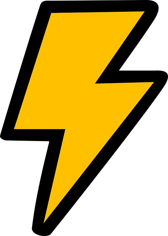 571x800 Cartoon Lightning Bolt Stickers By Jezkemp Redbubble