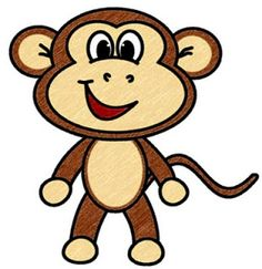 236x243 Cute Cartoon Monkeys Monkeys Cartoon Clip Art Cartoon Images