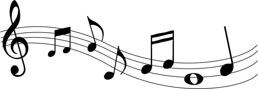 900x312 Music Notes Clipart Random