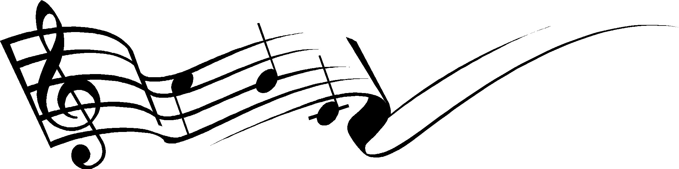 2170x543 Music Notes Clipart String
