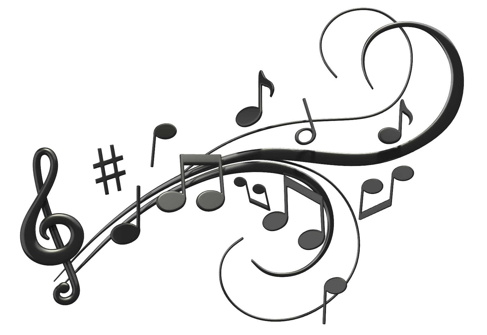 1600x1100 Music Notes Png Images Free Download, Note Clef Png