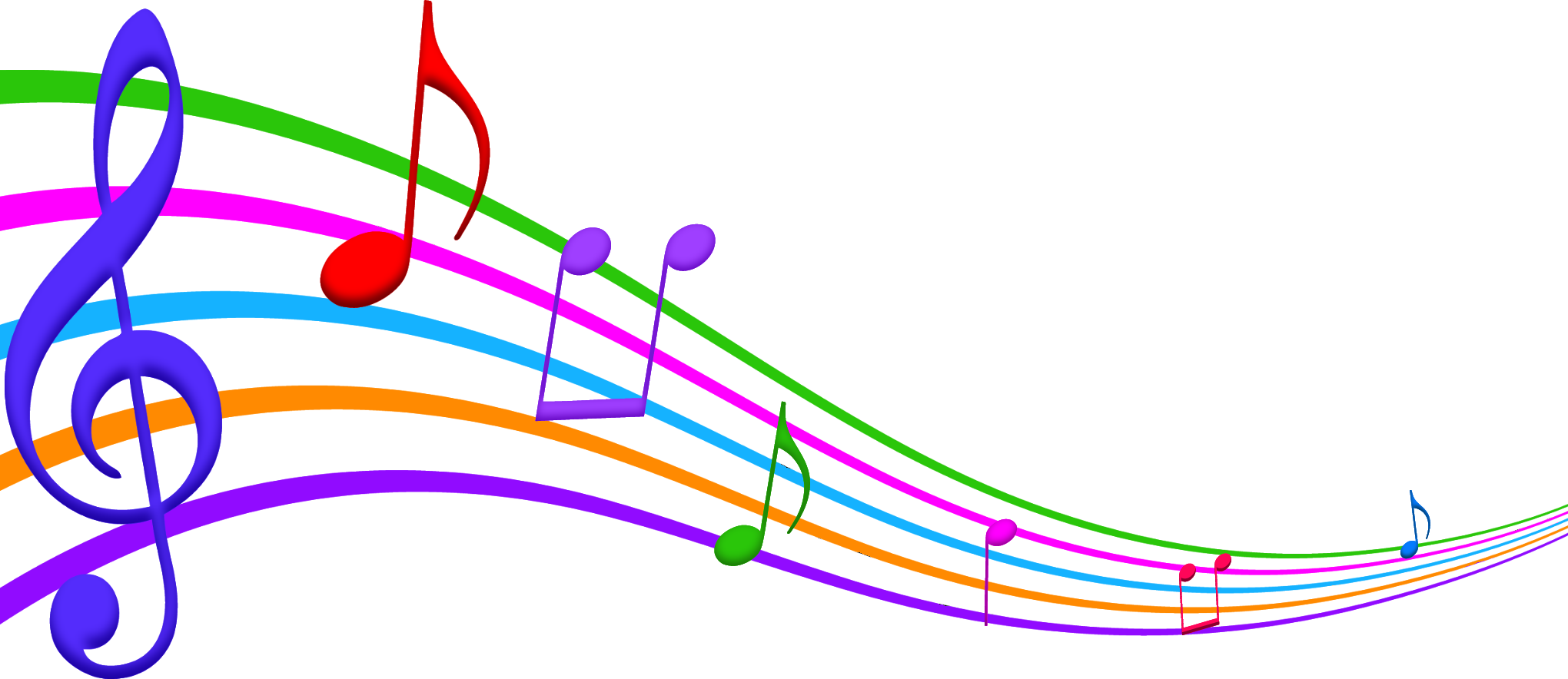 2040x884 Clipart Of Musical Notes