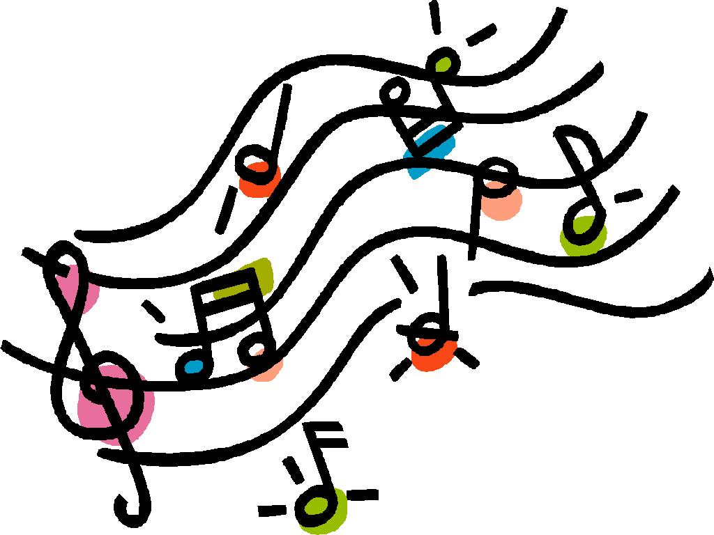 1024x768 Music Notes On Staff Clipart Free Images
