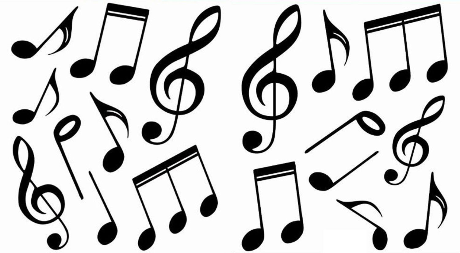 1500x826 Music Notes Black And White Music Notes Symbols Clipart