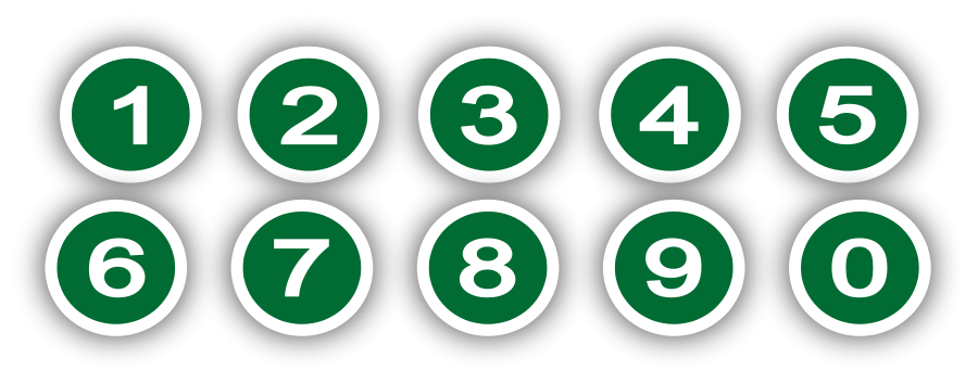 900x353 Green Circle With Numbers Png Clip Arts For Web