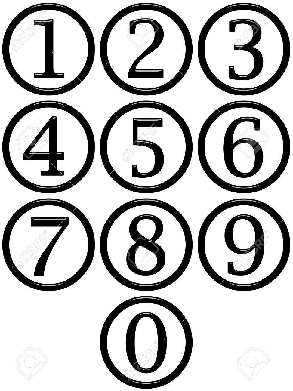 974x1300 Number In Circle Clipart