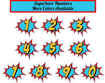 340x270 Numbers Clipart Etsy