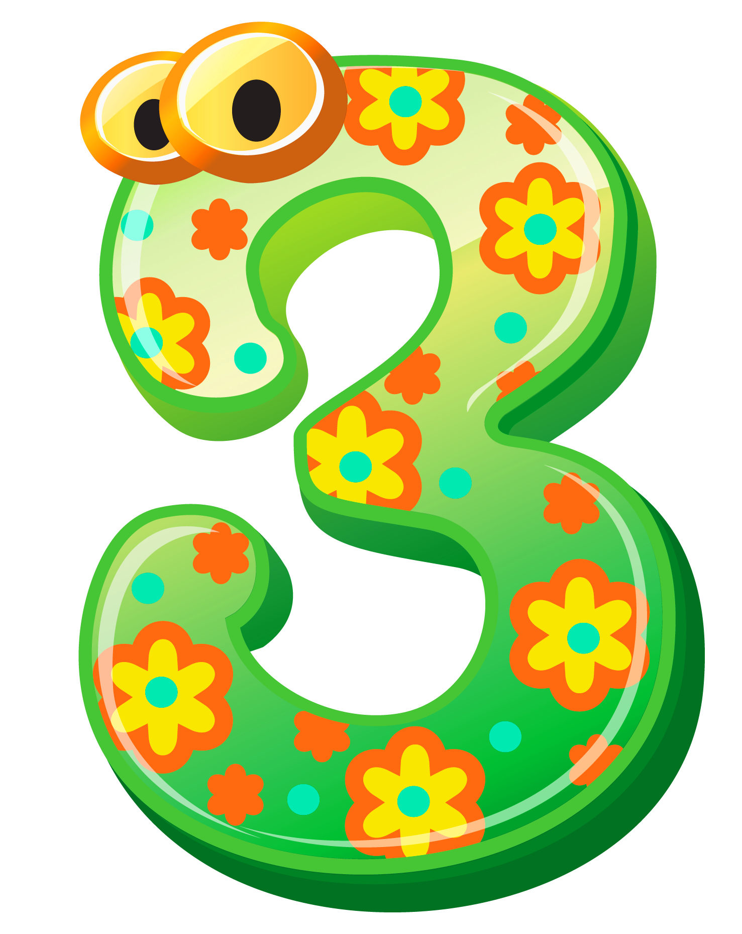 1477x1858 Numbers Cute Number Three Clipart Image