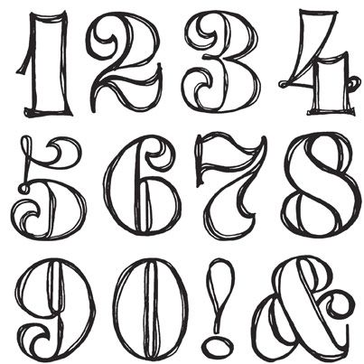 403x403 The Best Number Fonts Ideas Number Tattoo Fonts